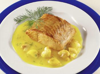 salmon con salsa de limon